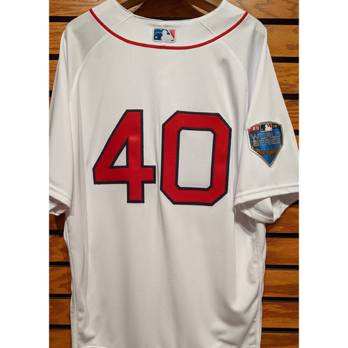 Photo of 2018 World Series Darwinzon Hernandez #40 Team Issued Home White Jersey
