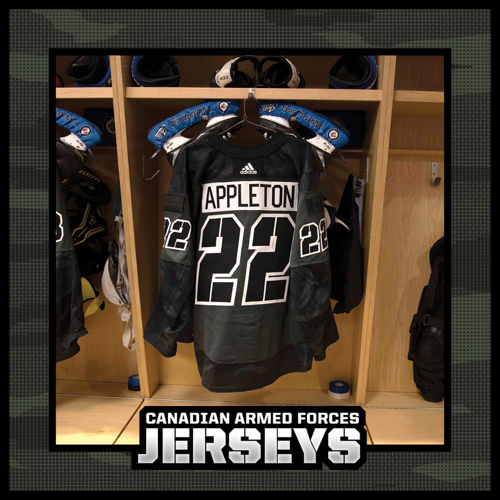 MASON APPLETON Warm Up Worn Canadian Armed Forces Jersey