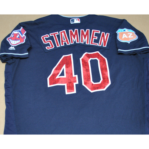 Photo of Game-Used 2016 Spring Training Jersey - Craig Stammen - Size 48 - Cleveland Indians