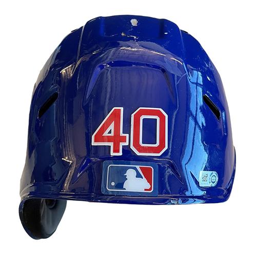 Photo of Willson Contreras Team-Issued Cracked Batting Helmet -- 2021 Season -- Size 7 5/8