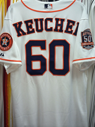 info for b5589 3d167 MLB Auctions | 2015 Astros Opening Day Game-Used Jersey: #60 ...