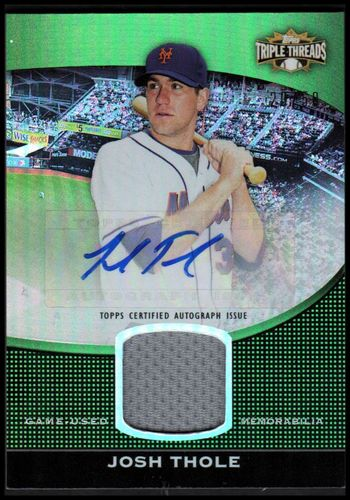 Photo of 2011 Topps Triple Threads Unity Relic Autographs Emerald #UAR53 Josh Thole