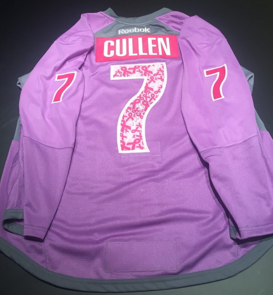 hot sale online e4b54 63a79 Matt Cullen Pittsburgh Penguins Purple Hockey Fights Cancer ...