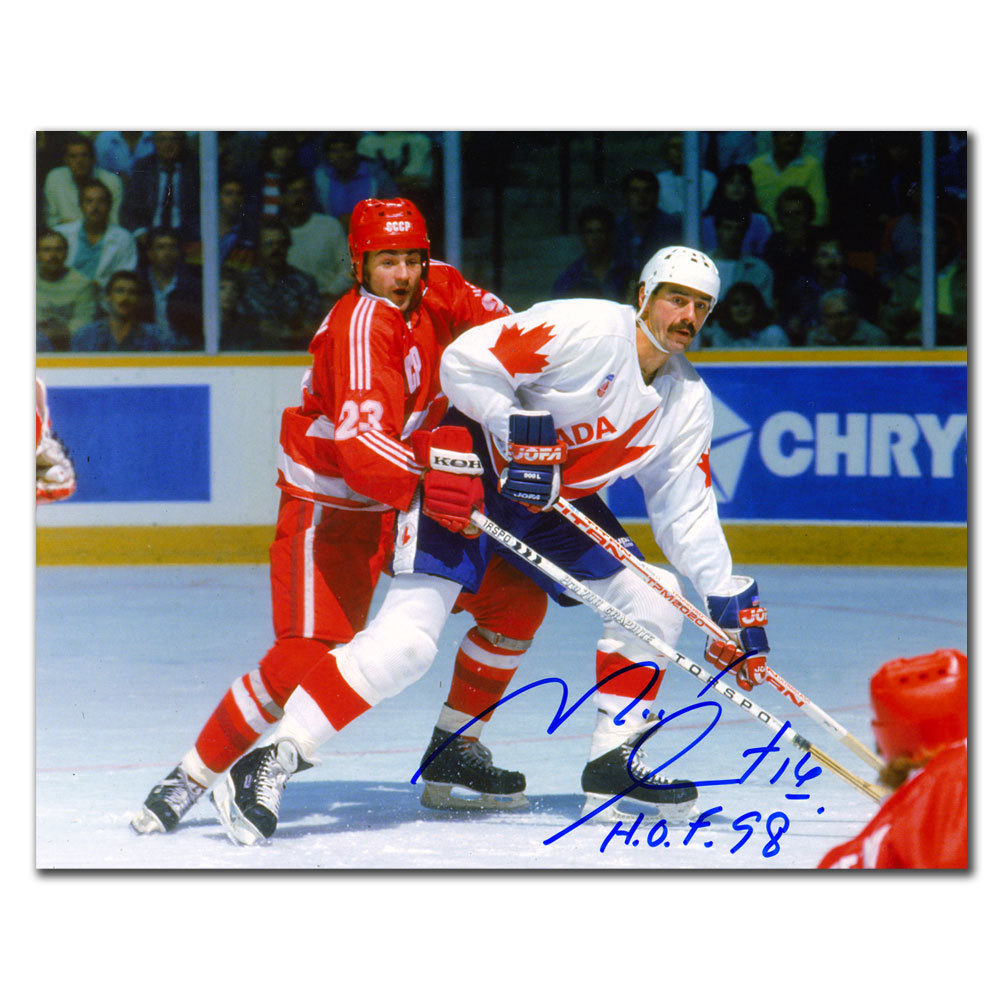 Michel Goulet Team Canada 1984 CANADA CUP Autographed 8x10