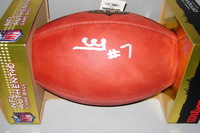 NFL - RAIDERS MARQUETTE KING SIGNED AUTHENTIC FOOTBALL