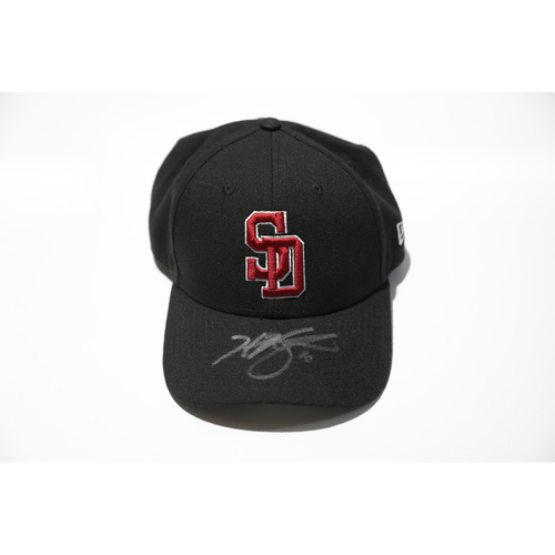 Photo of Hunter Renfroe Autographed, Game-Worn Stoneman Douglas Eagles Cap - Not MLB Authenticated