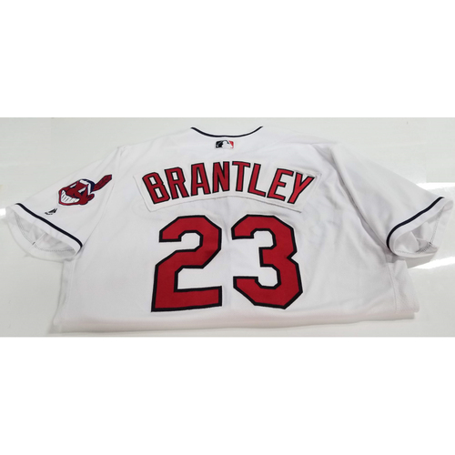 Photo of Michael Brantley Game Worn Jersey - 2nd Grand Slam of 2018