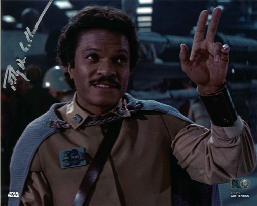 PREORDER Billy Dee Williams As Lando Calrissian 8X10 Autographed in Silver Ink Photo