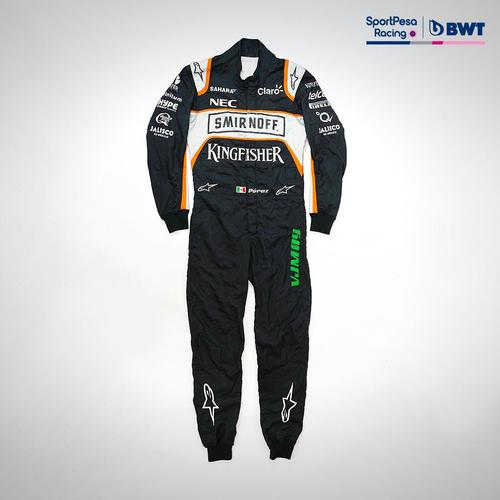 Photo of Sergio Perez 2016 Race-worn Race Suit - Sahara Force India F1 Team
