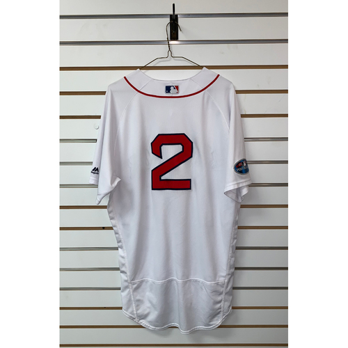 Photo of Xander Bogaerts Game Used October 14, 2018 Home Jersey