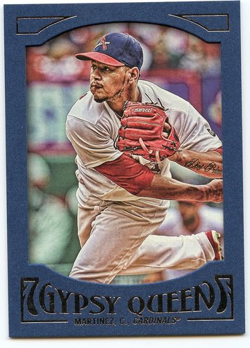 Photo of 2016 Topps Gypsy Queen Framed Blue #40 Carlos Martinez