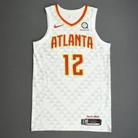 De'Andre Hunter - Atlanta Hawks - Kia NBA Tip-Off 2019 - Game-Worn Association Edition Jersey - NBA Debut (4th Overall Draft Pick)