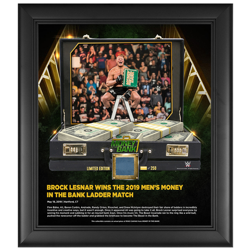 Photo of Money In The Bank 2019 Brock Lesnar Limited Edition 15x17 Plaque (#1 of 250)