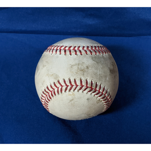 Photo of 2020 Game Used Baseball: Pitcher: Dennis Santana, Batters: Austin Slater (Line Out), Donovan Solano (2 RBI Double) - Top 4 - 7-25-2020 vs. SF