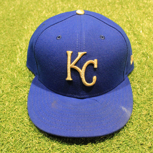 Photo of Game-Used 2020 Gold Hat: Danny Duffy #41 (Size 7 3/4 - DET @ KC 9/25/20)