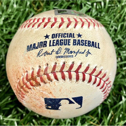 Photo of Game Used Baseball: Jake Waguespack MLB Debut Pitched Ball - May 27, 2019 v TOR