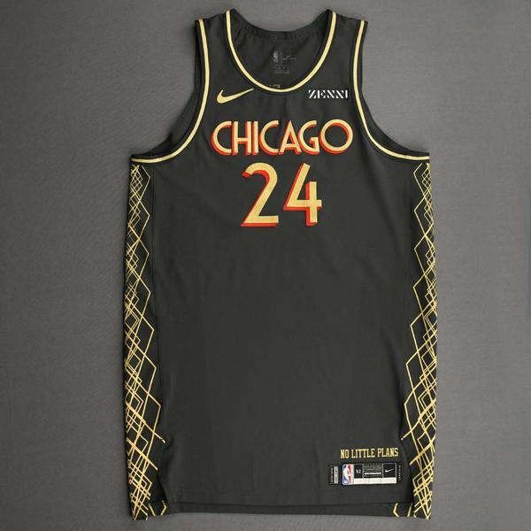 Image of Lauri Markkanen - Chicago Bulls - City Edition Jersey - Scored 23 Points - 2020-21 NBA Season