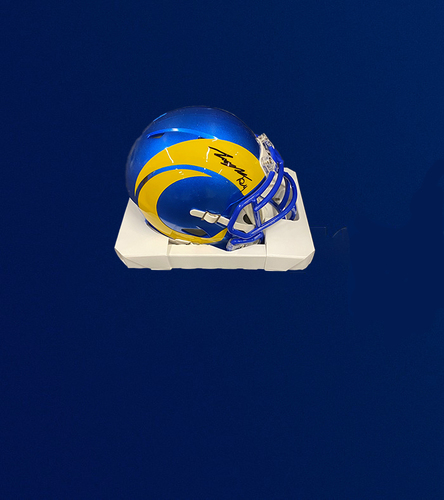 Photo of Taylor Rapp Signed Mini-Helmet