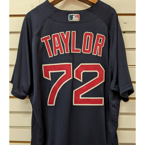 Photo of Josh Taylor #72 Team Issued Nike Navy Road Alternate Jersey