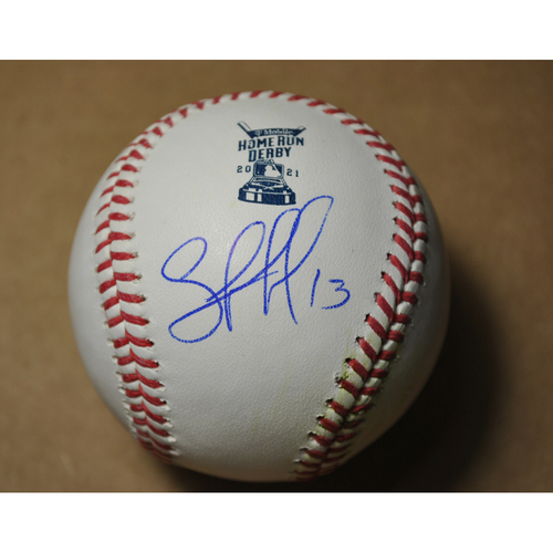 Photo of MLB Players Youth Development Foundation: 2021 T-Mobile Home Run Derby Used & Autographed Baseball - Salvador Perez, Round 1 Out
