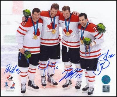 THORNTON-HEATLEY-MARLEAU-BOYLE SIGNED Team Canada 16x20 Olympic Gold Photo