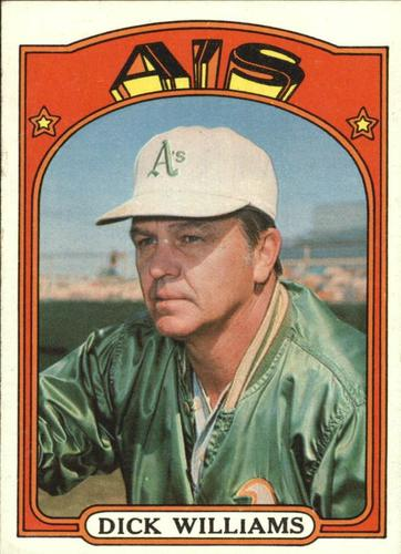 Photo of 1972 Topps #137 Dick Williams MG