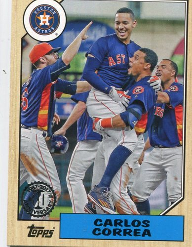 Photo of 2017 Topps '87 Topps #871 Carlos Correa