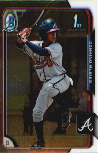 Photo of 2015 Bowman Chrome Prospects #BCP71 Ozhaino Albies -- Pre-rookie card