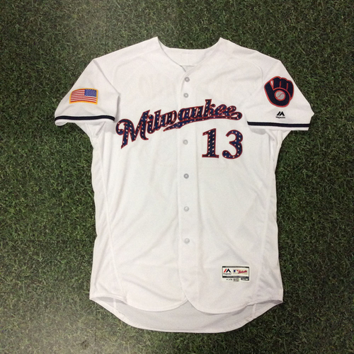 Photo of Tyler Saladino Team-Issued 2018 Stars & Stripes Jersey