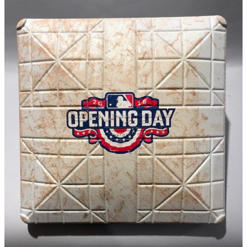 Photo of 2016 Milwaukee Brewers Opening Day - 1st Base Used In Innings 7-9  - 4/04/16