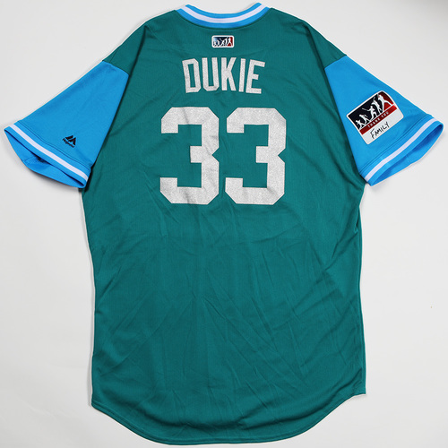 "Photo of Zach ""Dukie"" Duke Seattle Mariners Game-Used Players' Weekend Jersey"