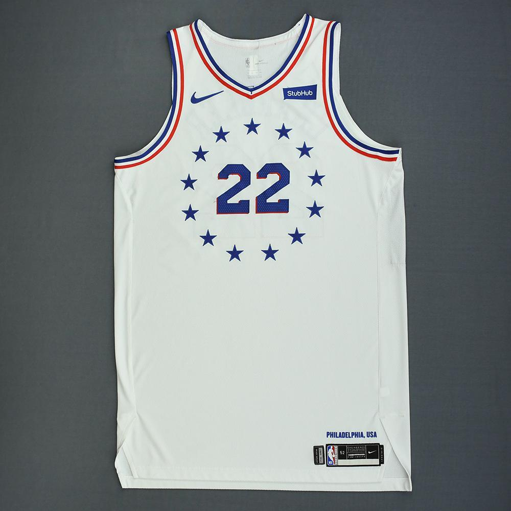 Wilson Chandler - Philadelphia 76ers - Christmas Day' 18 - Game-Worn Earned City Edition Jersey