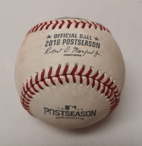 Photo of Authenticated Game Used Baseball - Ian Desmond RBI Single against J.A. Happ (ALDS Game 2: October 7, 2016 vs TEX). Bottom 4.
