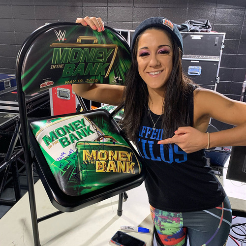 Photo of Bayley SIGNED 2019 Money in the Bank Event Chair