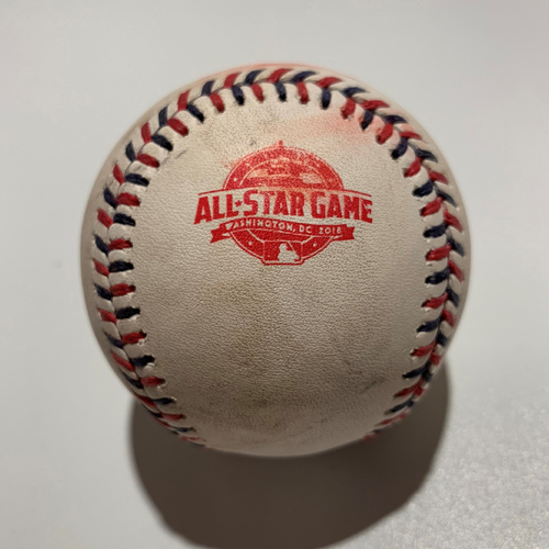 Photo of 2018 All Star Game - Game Used Baseball - Batter: Javier Baez Pitcher: Jose Berrios - Swinging Strike