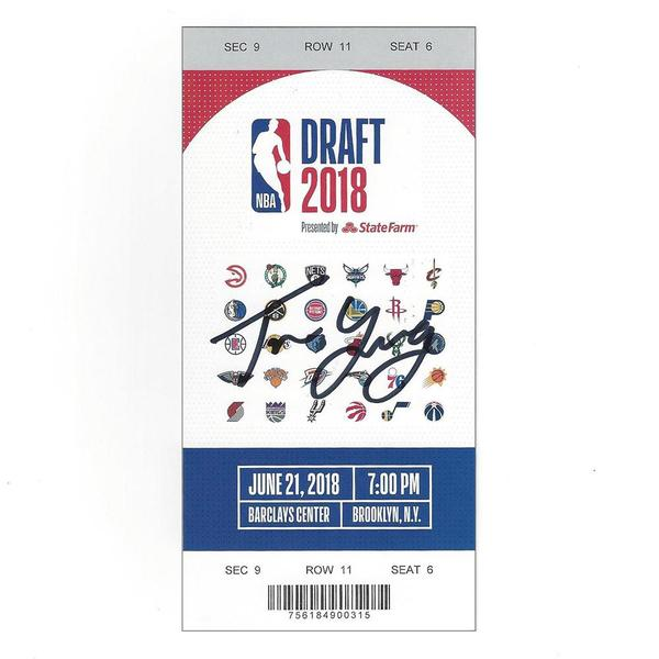 Image of Trae Young - Atlanta Hawks - 2018 NBA Draft - Autographed Draft Ticket