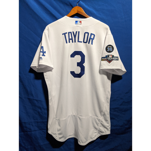Chris Taylor Team-Issued 2019 Home Postseason Jersey