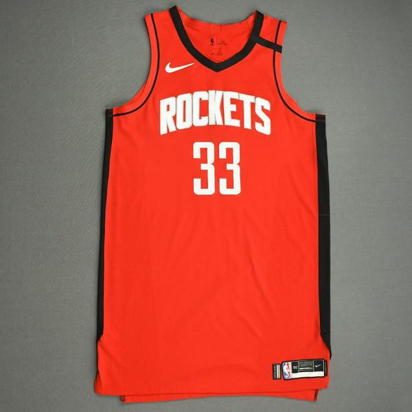 Image of Robert Covington - Houston Rockets - Game-Worn Icon Edition Jersey - 2019-20 NBA Season Restart with Social Justice Message