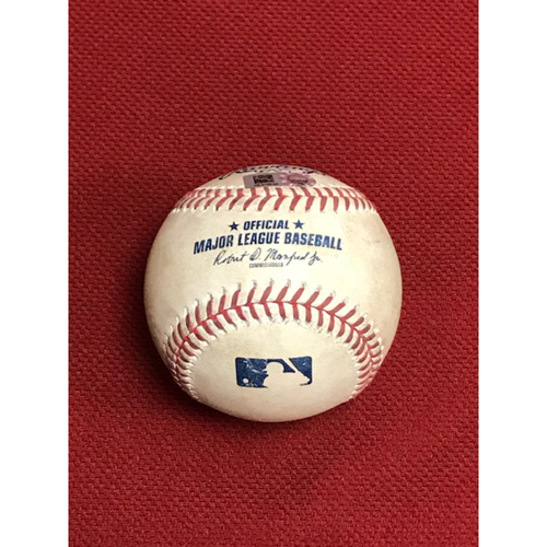 Photo of 8/25/20 Game-Used Baseball, Rockies at Diamondbacks: Trevor Story Hit a Triple Off of Alex Young