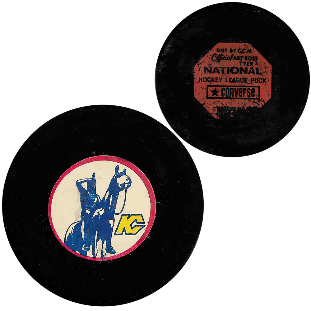 Classic Kansas City Scouts Converse Game Puck - 1974-76