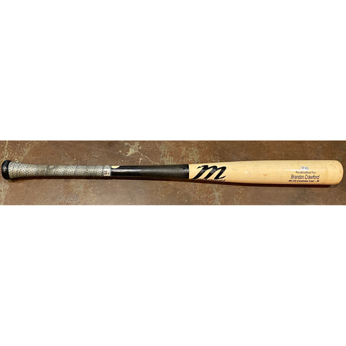 Photo of 2021 Team Issued Broken Bat - #35 Brandon Crawford - Marucci Game Model Bat