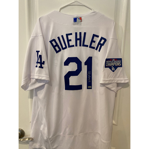 Photo of Walker Buehler Authentic Autographed Los Angeles Dodgers Jersey