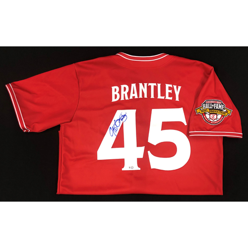 Jeff Brantley - AUTOGRAPHED Game Used Jersey: Reds Hall of Fame Legends Game - Coaching Staff