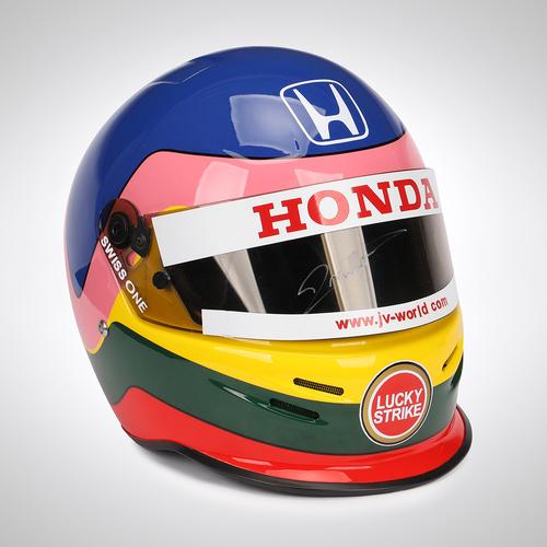 Photo of Jacques Villeneuve 2003 Signed Official Promo Helmet
