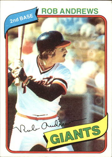 Photo of 1980 Topps #279 Rob Andrews