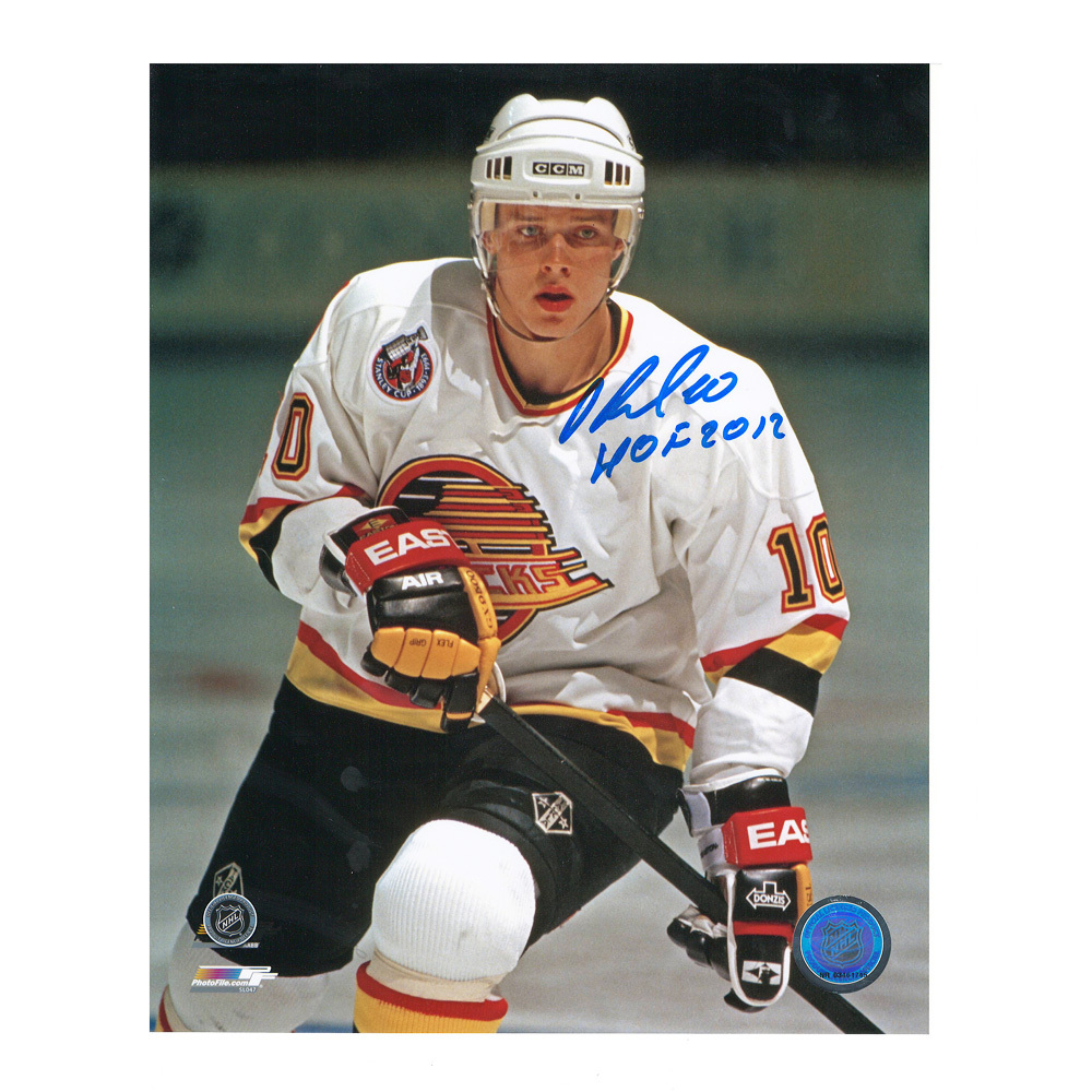 PAVEL BURE Signed Vancouver Canucks 8 X 10 Photo with