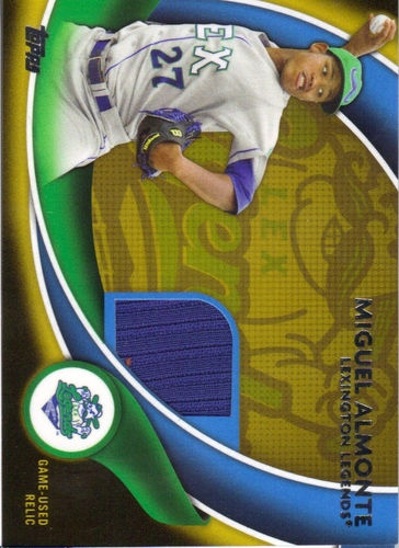 Photo of 2014 Topps Pro Debut Debut Duds Jerseys Gold #DDJMA Miguel Almonte