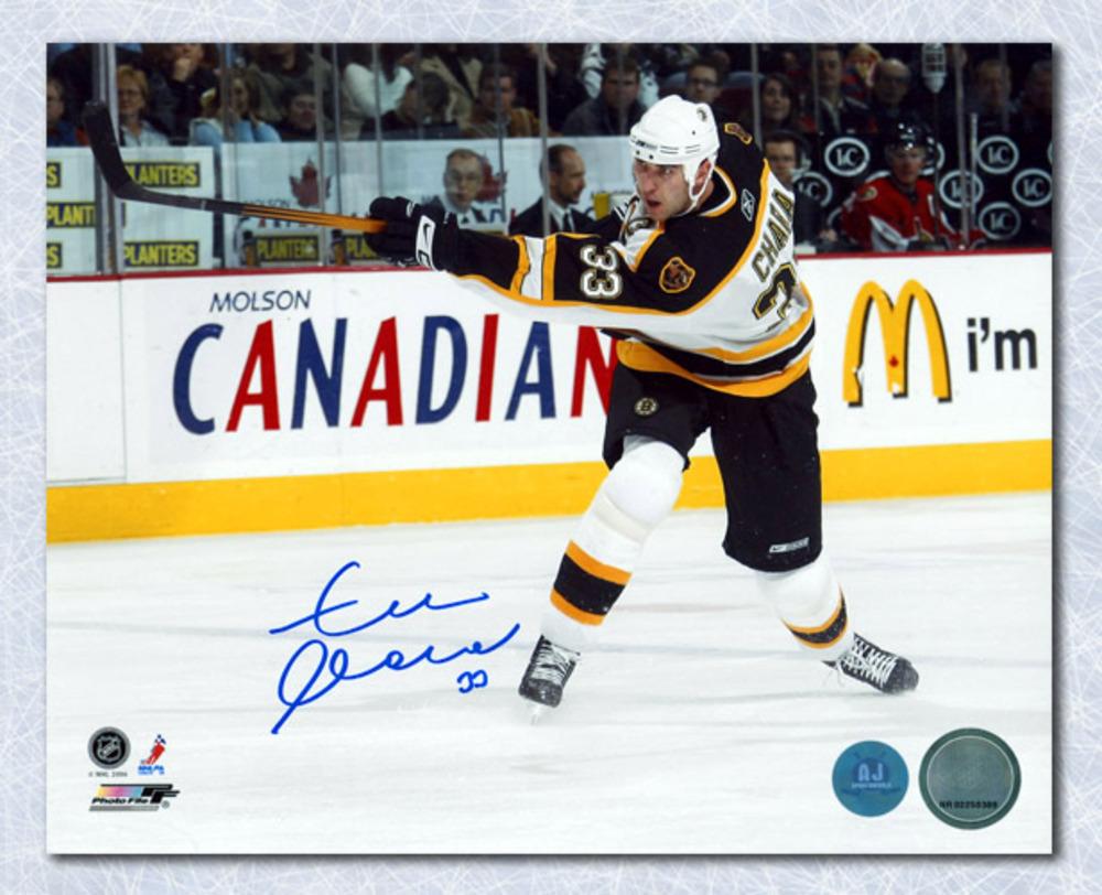 Zdeno Chara Boston Bruins Autographed Blueline Slapshot 8x10 Photo
