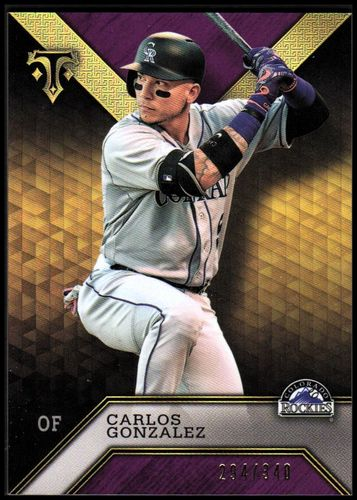 Photo of 2016 Topps Triple Threads Amethyst #88 Carlos Gonzalez
