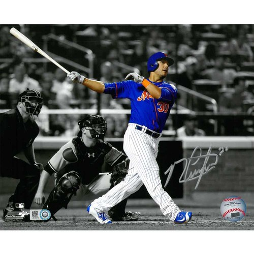 Photo of Michael Conforto - Autographed 8x10 Photo - Black and White